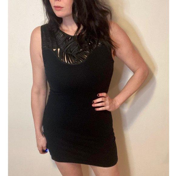 Topshop Black Strappy Bodycon Mini Dress